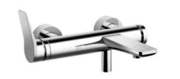 ###リラインス バス&シャワーアイテム【33.200.845.00】ドンブラハ 壁出シングルレバーバスシャワー混合栓 196mm クロムメッキ リセ 受注約2ヶ月