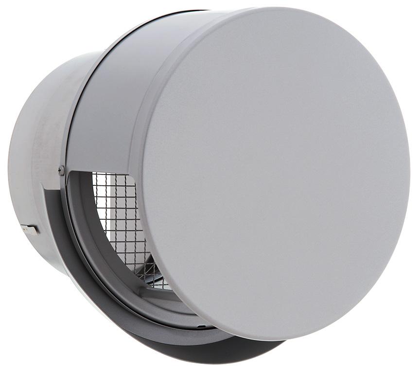 ■ユニックス 屋外用製品【BSW200SCR3MDSQ】ステンレス製 グリル 外風対策 丸型フラットカバー付 メッシュ 防火ダンパー 120℃型式