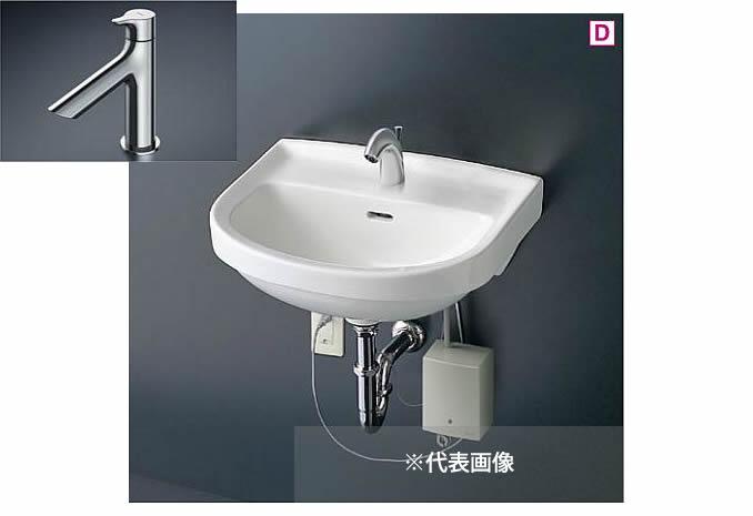 ###TOTO 壁掛洗面器 セット品番【L210C+TLS01101J】立水栓 壁排水金具(Pトラップ)
