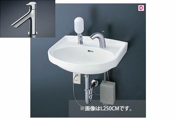 ###TOTO 壁掛洗面器 セット品番【L250C+TLS01101J】立水栓 壁排水金具(Pトラップ)