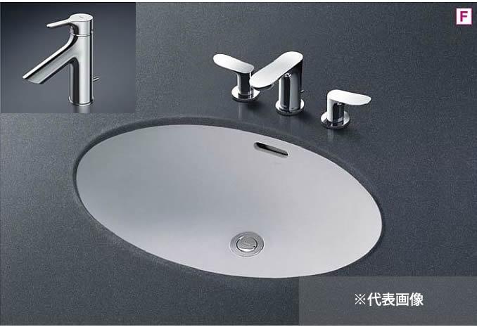 ###TOTO カウンター式洗面器 セット品番【L548U+TLS01302JA】アンダーカウンター式 台付シングル混合水栓(エコシングル) 床排水金具(Sトラップ)