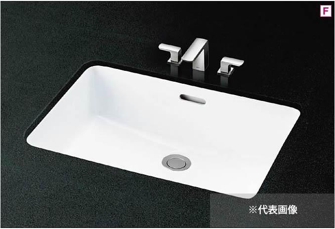 ###TOTO カウンター式洗面器 セット品番【L620+TLG02201J】アンダーカウンター式 2ハンドル混合水栓 床排水金具(Sトラップ)