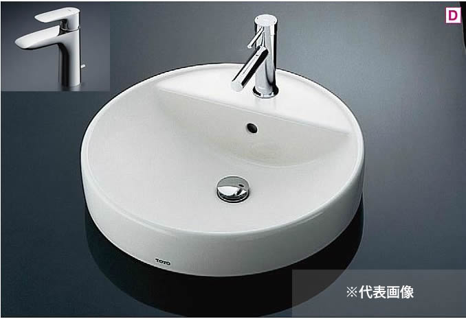 ###TOTO カウンター式洗面器 セット品番【L700C+TLG04302JA】ベッセル式 台付シングル混合水栓(エコシングル) 床排水金具(Sトラップ)
