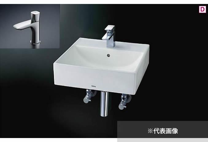 ###TOTO 壁掛洗面器 セット品番【L710C+TLG04101J】立水栓 壁排水金具(Pトラップ)