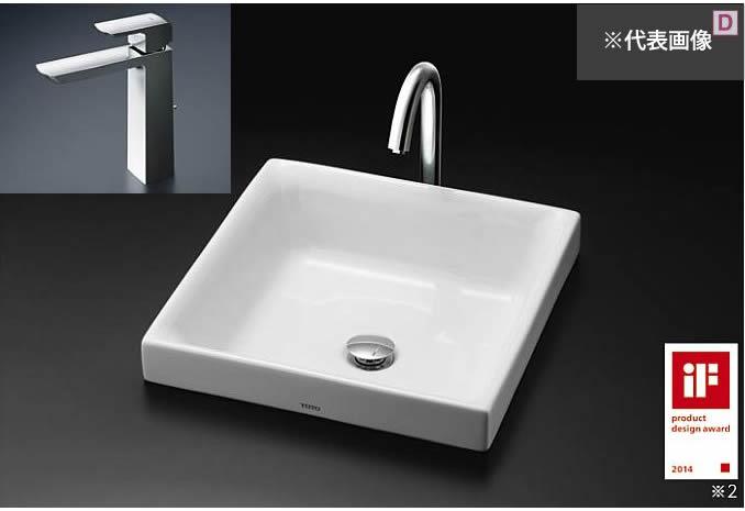 ###TOTO カウンター式洗面器 セット品番【LS715 #NW1+TLG02305JA】ホワイト ベッセル式 台付シングル混合水栓(エコシングル) 壁排水金具(Pトラップ)