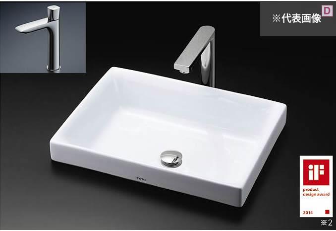###TOTO カウンター式洗面器 セット品番【LS716 #NW1+TLG04102J】ホワイト ベッセル式 単水栓 壁排水金具(Pトラップ)