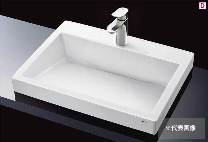 ###TOTO カウンター式洗面器 セット品番【LS911CR #NW1+TLG01303JA】ホワイト ベッセル式 台付シングル混合水栓(エコシングル) 床排水金具(Sトラップ)