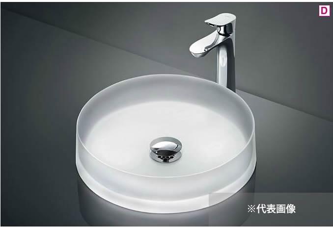 ###TOTO カウンター式洗面器 セット品番【MR700+TLG01306JA】ベッセル式 クリスタルボウル 台付シングル混合水栓(エコシングル) 壁排水金具(Pトラップ)
