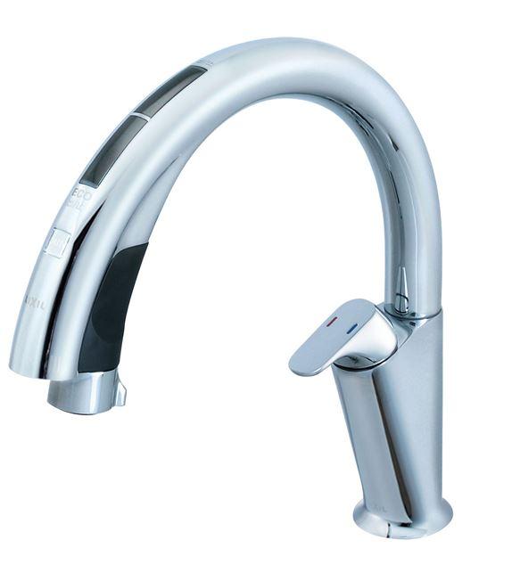 ≧INAX/LIXIL タッチレス水栓【SF-NA491S】ナビッシュ(ハンズフリータイプ) (エコセンサー付) A9タイプ 逆止弁