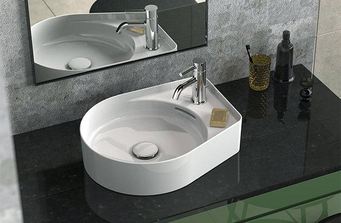 ■CERA/セラ 洗面・手洗【AU12281】VAL(バル)シリーズ (洗面器のみ) ホワイト 500×400