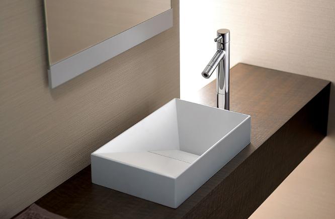 ■CERA/セラ 洗面・手洗【CEL420R】セラオリジナルコレクション (手洗器のみ) マットホワイト 人工大理石製 300×180