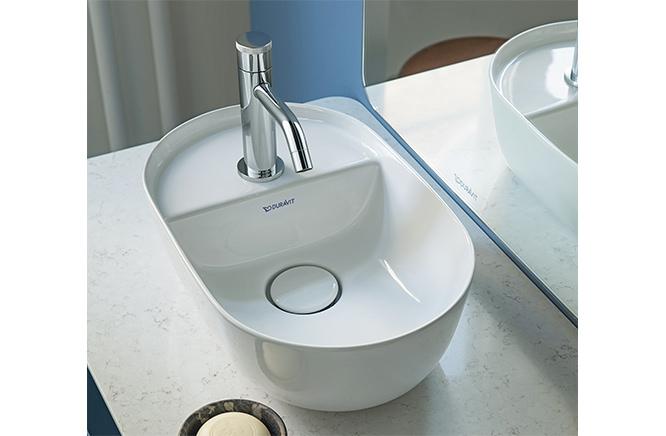 ■CERA/セラ 洗面・手洗【DV038142-00】LUV(ルフ)シリーズ (手洗器のみ) ホワイト 420×270