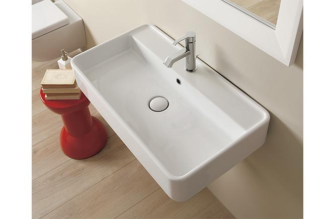 ■CERA/セラ 洗面・手洗【FLMW75】MINI WASH(ミニウォッシュ) (洗面器のみ) ホワイト 750×420