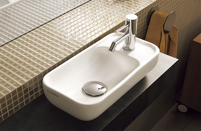 ∬∬■CERA/セラ 洗面・手洗【FLPS40】PASS(パス) (手洗器のみ) ホワイト 400×220