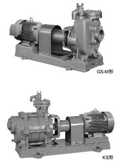 川本 自吸タービンポンプ【GS806ME11】2極 60Hz 三相200V 11kW GS-M形