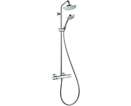 ■CERA/セラ 洗面・手洗【HG27135S】CROMA 160(クロマ160) サーモスタット式シャワー用湯水混合栓 (シャワーパイプタイプ) クロム
