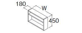 ###TOTO オクターブ 部材【LWFA065GEG1G】洗濯機上オープン棚 間口650mm