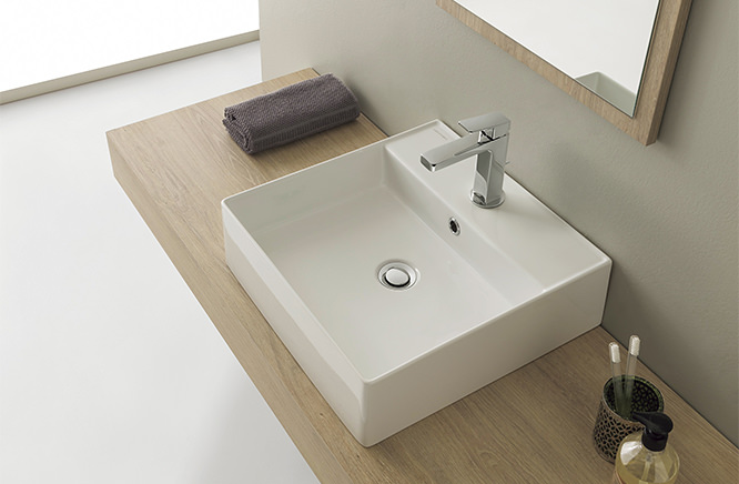 ∬∬■CERA/セラ 洗面・手洗【SB5104】TR2シリーズ (洗面器のみ) 取付ボルト付 ホワイト 460×460