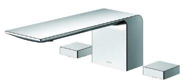 TOTO 浴室用水栓【TBP02202J】ZLシリーズ 台付2ハンドル混合水栓 一般地・寒冷地共用 滝状