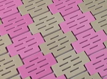 ####u.テラモト 環境美化用品【MR-072-080-7】ソフト巻き取りマット ベージュ/ピンク (1平方メートル) 受注生産