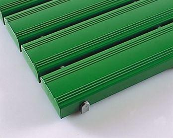 ####u.テラモト 環境美化用品【MR-093-245-1】抗菌安全スノコ(組立なし)緑 600x1800 受注生産