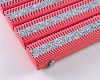 ####u.テラモト 環境美化用品【MR-098-345-5】抗菌滑り止め安全スノコ組立なし ピンク 600x1800 受注生産