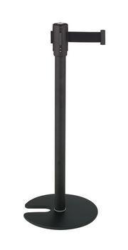####u.テラモト 環境美化用品【SU-660-510-7】ベルトパーテーションスタンドD スチール ベルト黒