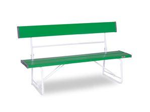 ####u.テラモト 環境美化用品【BC-300-015-1】ベンチ(背付)1500 緑