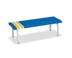 ####u.テラモト 環境美化用品【BC-302-012-3】ホームベンチ 1200 青