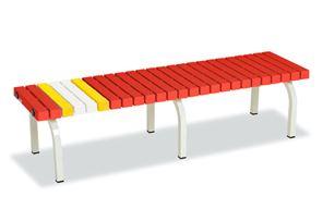 ####u.テラモト 環境美化用品【BC-302-015-2】ホームベンチ 1500 赤 受注生産