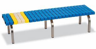 ####u.テラモト 環境美化用品【BC-302-315-3】ホームベンチ ステン 1500 青 受注生産