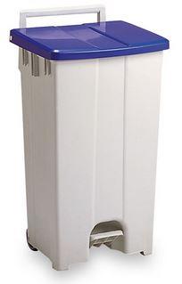 ####u.テラモト 環境美化用品【DS-224-309-3】ボックスカート 90 青/白 90リットル 受注生産