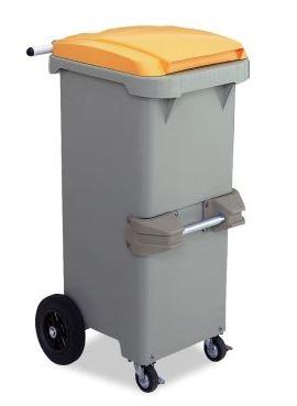 ####u.テラモト 環境美化用品【DS-224-611-6】リサイクルカート#110 反転型 イエロー