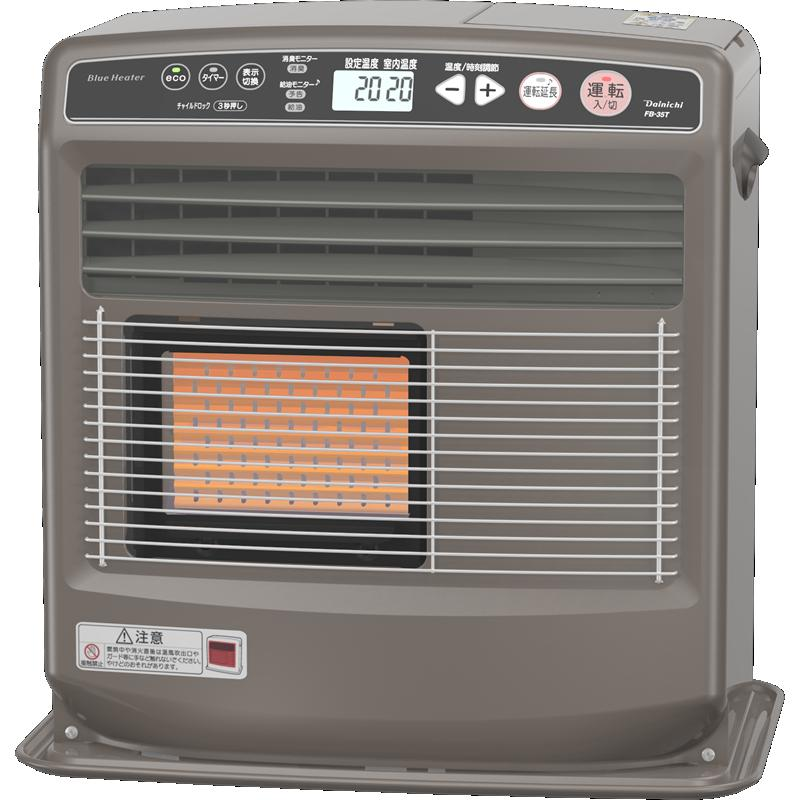 ダイニチ工業 暖房機器【FB-35T(T)】FBタイプ 家庭用石油ファンヒーター プラチナブラウン 6.0L 2ウェイ暖房 (旧品番 FB-359T(S))