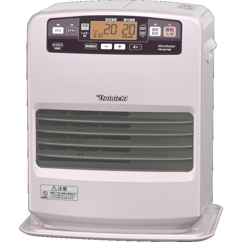 ダイニチ工業 暖房機器【FW-3317KE(R)】KEタイプ 家庭用石油ファンヒーター ライトローズ 5.0L Wとって付き