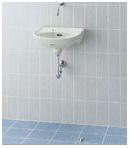 ###INAX/LIXIL セット品番【L-15BG+LF-45A】平付大型手洗器(壁付式) 足踏式手洗水栓 床排水金具(Sトラップ)