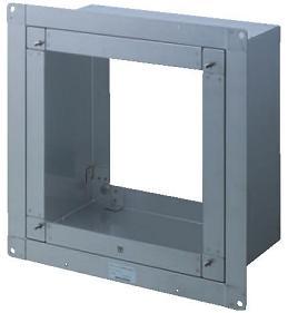 東芝 換気扇部材【KW-U25VPD】 インテリア有圧換気扇用薄壁取付枠 防火ダンパー付ウェザーカバー用 25cm用