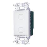 パナソニック 配線器具【WTY5322WK】アドバンスシリーズ タッチLEDお好み点灯ダブルスイッチ 受信器 適合LED専用1.2A マットホワイト