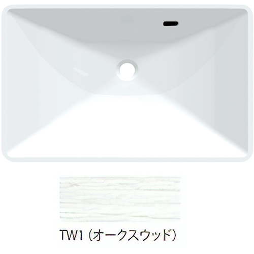 ###三栄水栓/SANEI【HW20-TW1】オークスウッド ボウル一体型洗面カウンター 受注生産