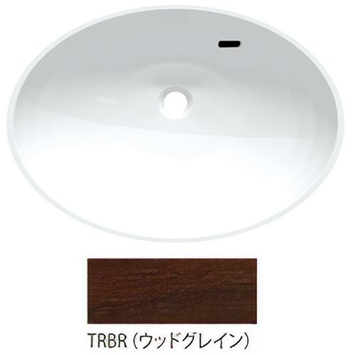 ###三栄水栓/SANEI【HW200-TRBR】ウッドグレイン ボウル一体型洗面カウンター 受注生産