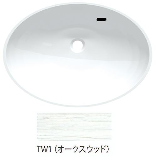 ###三栄水栓/SANEI【HW200-TW1】オークスウッド ボウル一体型洗面カウンター 受注生産