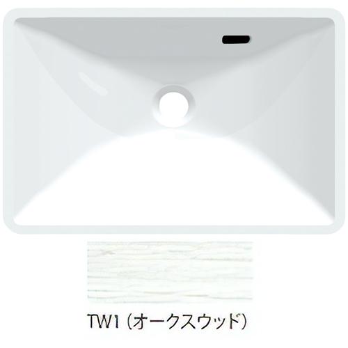 ###三栄水栓/SANEI【HW21-TW1】オークスウッド ボウル一体型手洗カウンター 受注生産
