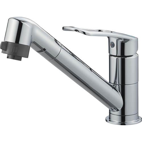 三栄水栓/SANEI【K8711MEJV-S-13】シングルワンホール切替シャワー混合栓