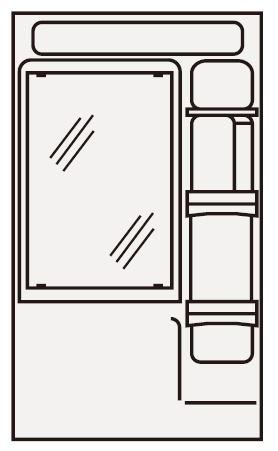 ###クリナップ ミラーキャビネット【M-601CHVH】1面鏡 BTSシリーズ LED 間口60cm