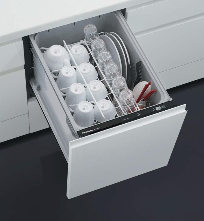 ###パナソニック 食器洗い機 乾燥機【NP-45KS8W】食器洗い乾燥機 K8シリーズ ミドルタイプ 幅45cm ドアフル面材型