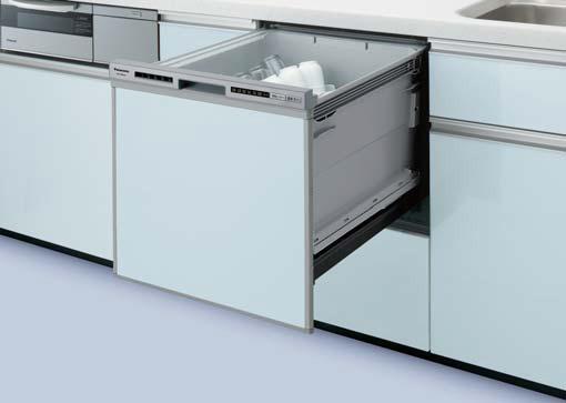 ###パナソニック 食器洗い機 乾燥機【NP-45RS7S】操作部シルバー 食器洗い乾燥機 R7シリーズ ミドルタイプ 幅45cm ドアパネル型