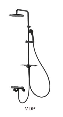 三栄水栓/SANEI【SK18520-2S1-MDP-13】サーモシャワー混合栓 マットブラック