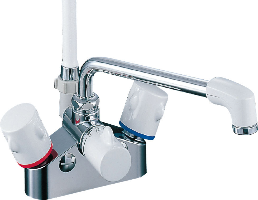 『カード対応OK!』《あす楽》◆15時迄出荷OK! πINAX 浴室用水栓金具【BF-M616H】ミーティス 2ハンドルシャワーバス水栓(一時止水付)