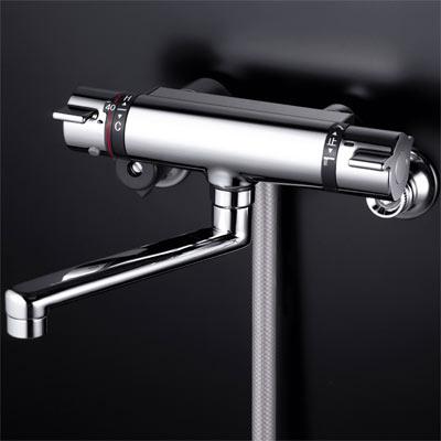 《あす楽》◆15時迄出荷OK!KVK 水栓金具【KF800TMB】サーモスタット式シャワー メタリックホース・メタルヘッド付
