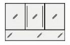 ####クリナップ Tiaris(ティアリス)【M-1503ANF-A】ミラーキャビネット 本体 ビテラスミラー3面鏡(ダブルLED) 間口150cm 照明側
